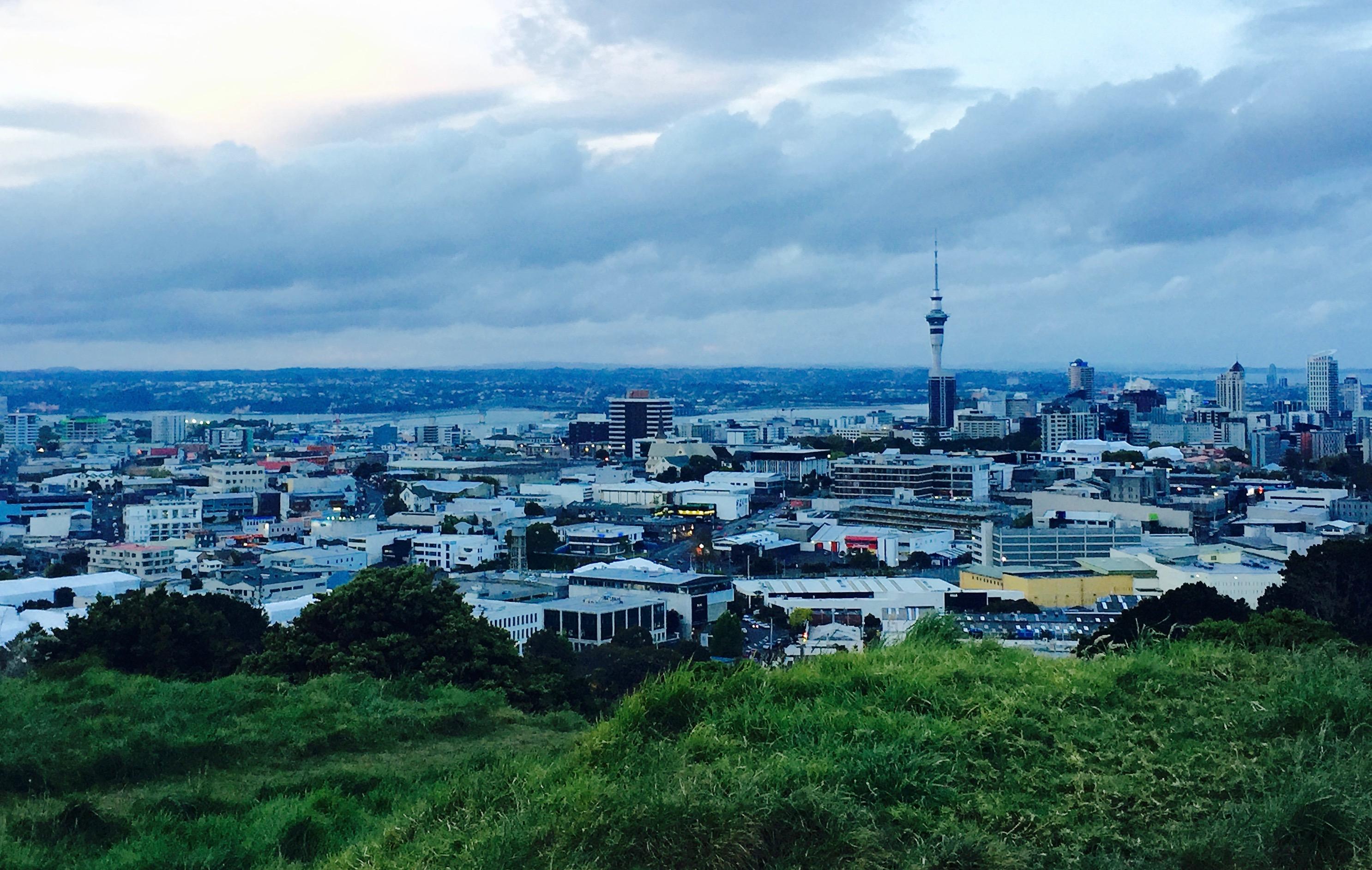 Vue du Mont Eden Auckland