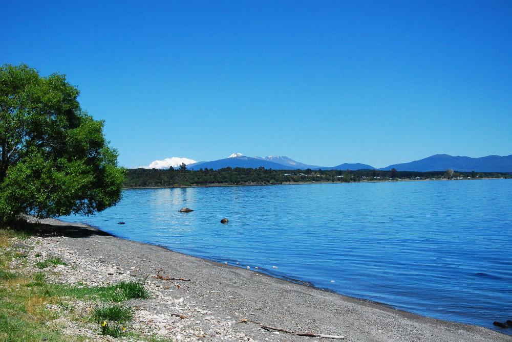 Lac de Taupo en Nouvelle-Zélande