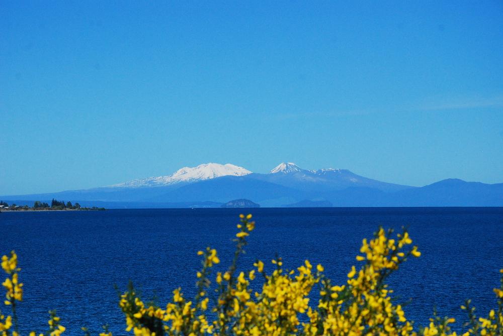 Lac de taupo en Nouvelle Zélande