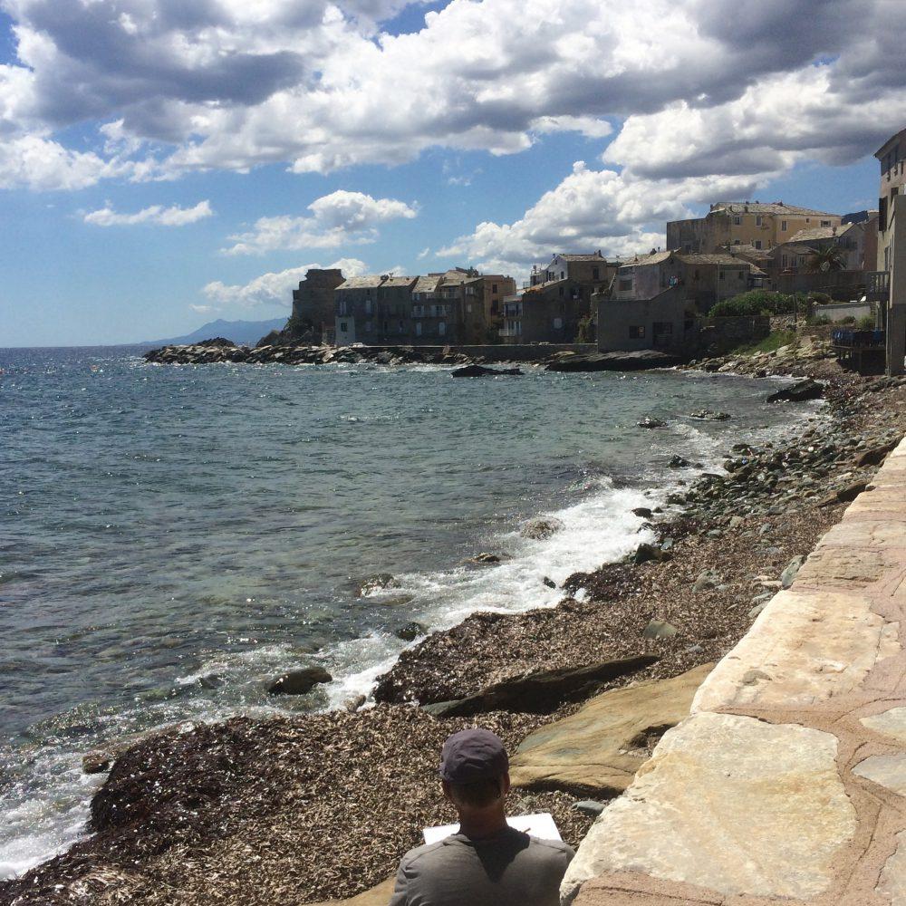 Le Cap Corse en une journée : peintre à Erbalunga