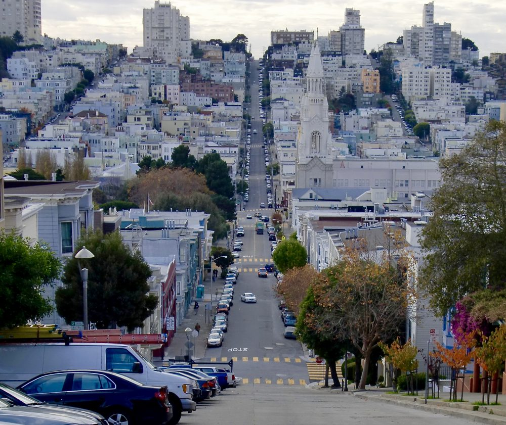 Filbert Street, rue la plus pentue de San Francisco.