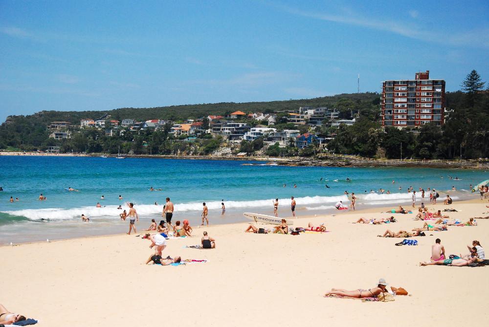 Plage de Manly à Sydney