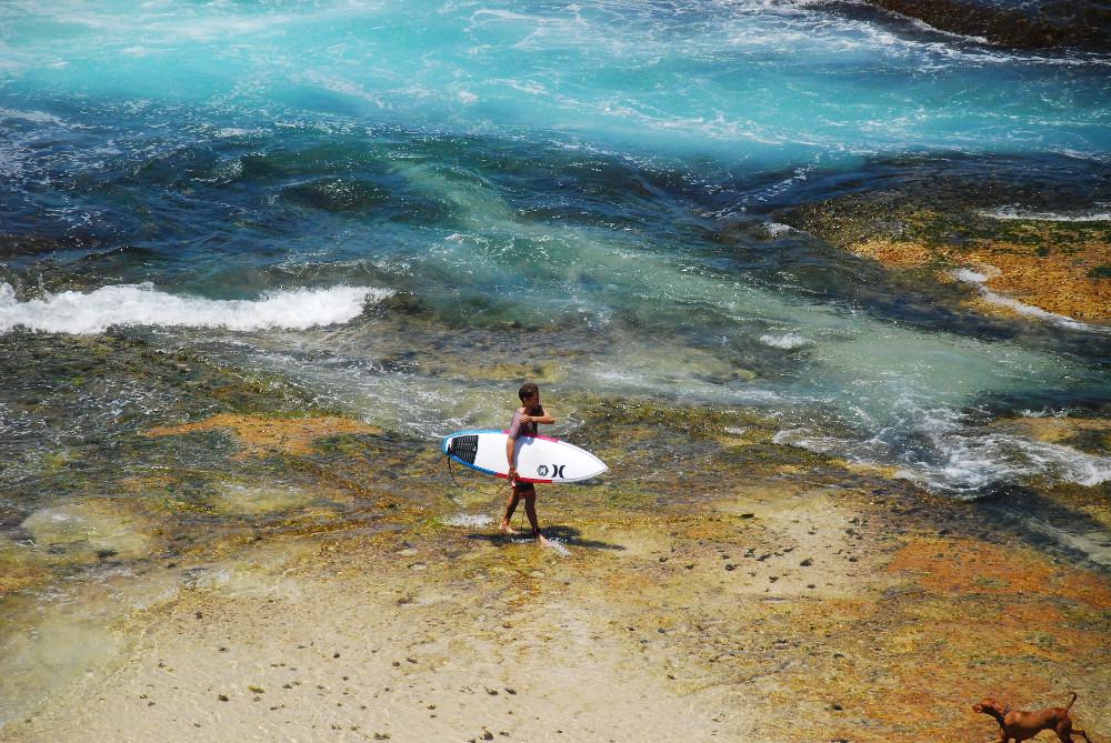 Surfer à Tamara Beach Sydney