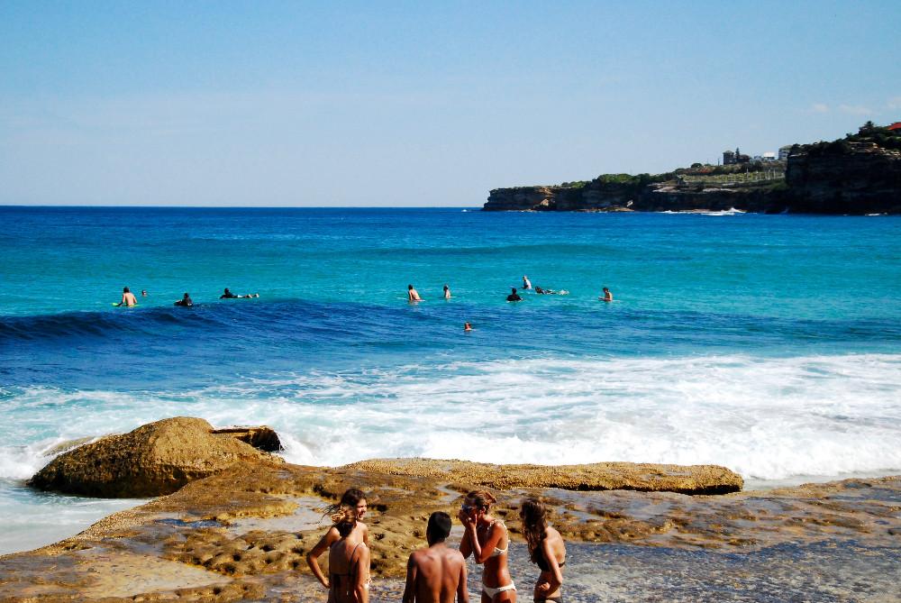 Surfers à Tamara Beach Sydney