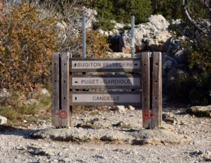 Panneaux indicatifs calanques de Cassis et Marseille