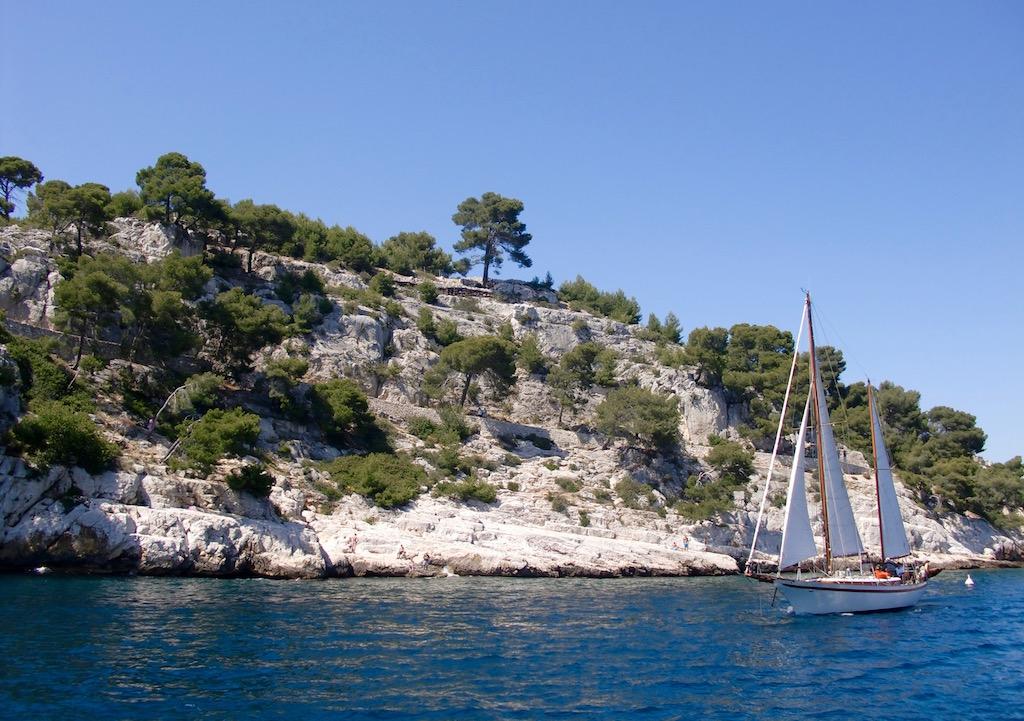 Excursion en bateau jusqu'aux calanques de Cassis