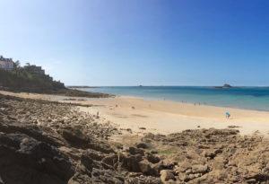 La plage de l'Ecluse à Dinard
