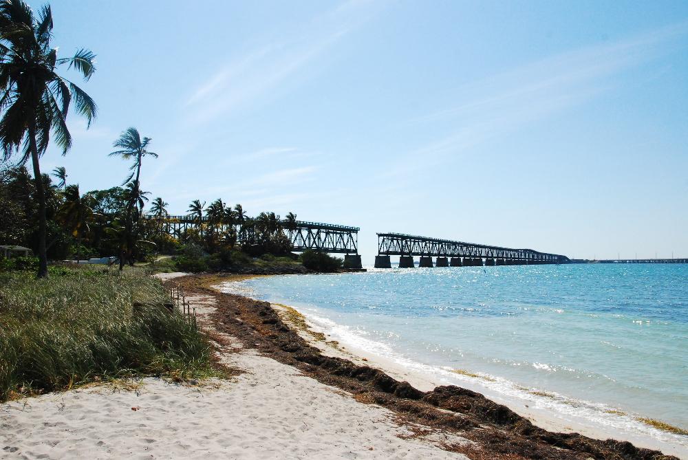 Vieux pont cassé dans les Keys