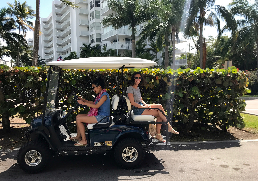 Voiturette de golf à Key Biscayne