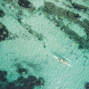 Kayak vue d'un drône par @bestjobers