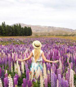 @karin_samsonova dans un champ de fleurs