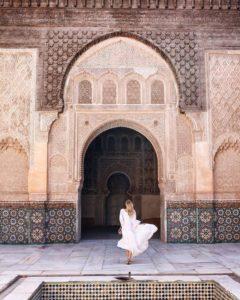 publication instagram à la médersa Ben Youssef