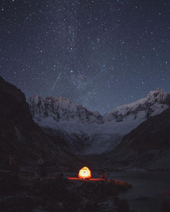 Tente allumée outdoor instagram
