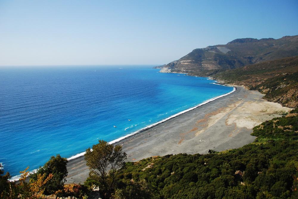 Plage de Nonza au Cap Corse
