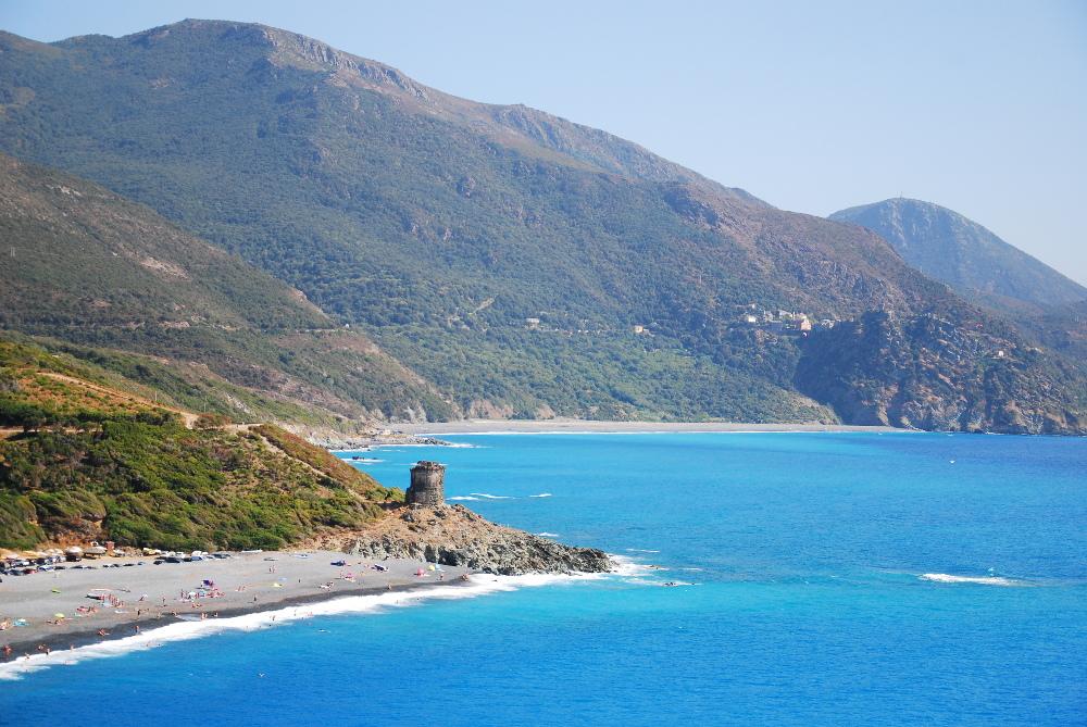 Plage près de Nonza au Cap Corse