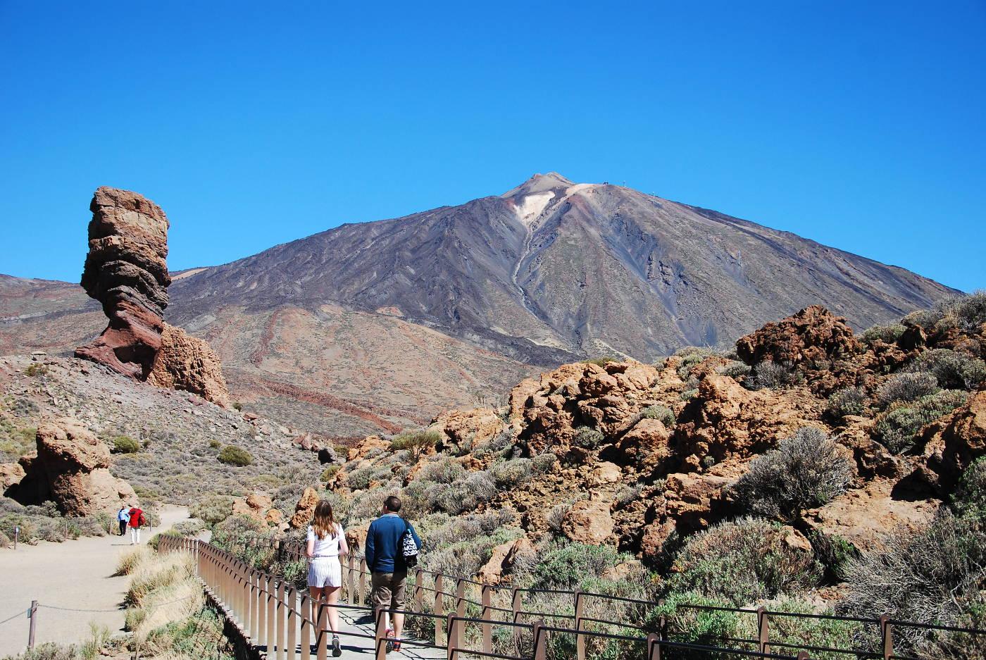 Le volcan El Teide de Tenerife et le Roque Cinchado