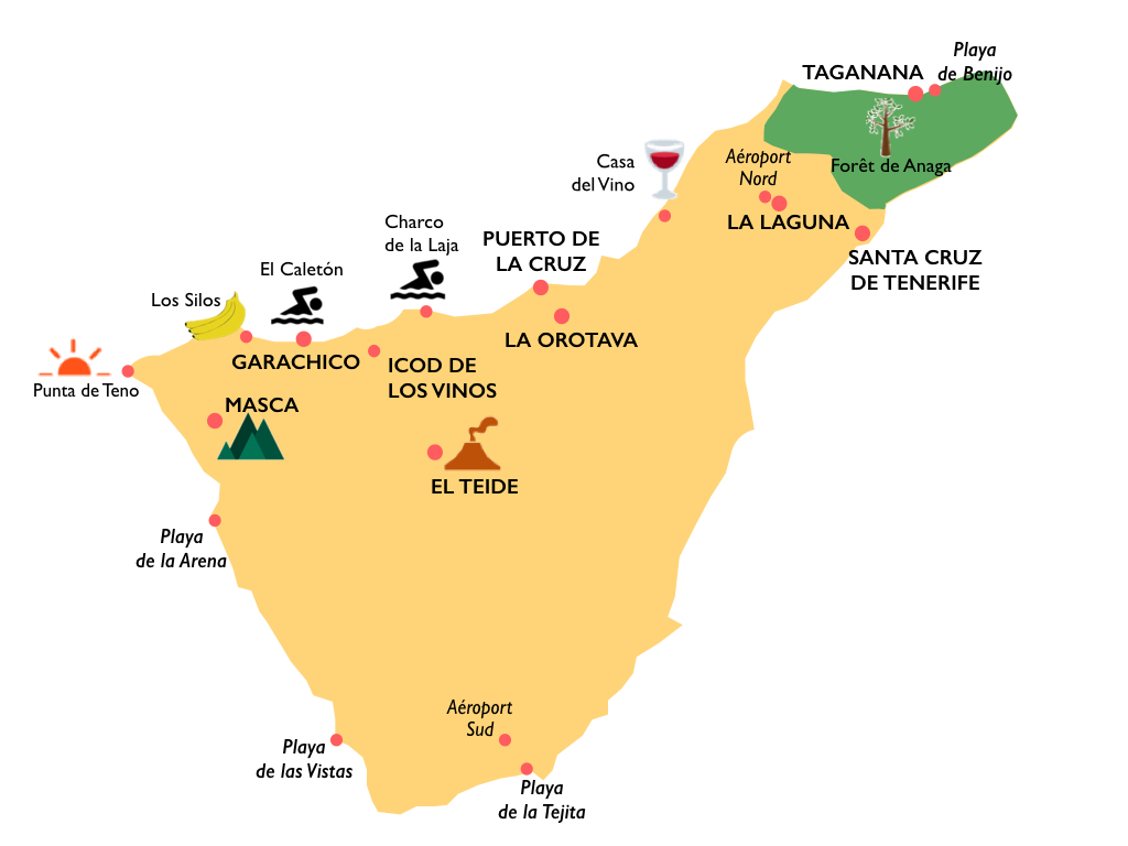 Carte de Tenerife