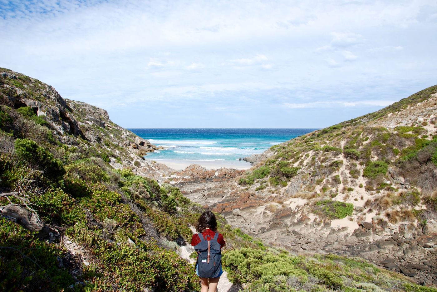 La plage Snake Lagoon sur l'île kangourou
