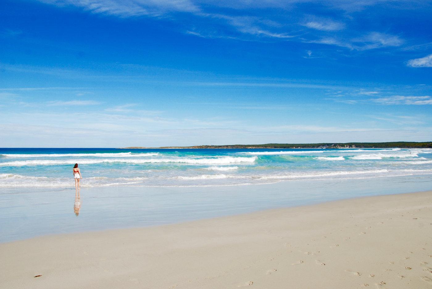 Plage de Vivonne Bay sur l'île kangourou