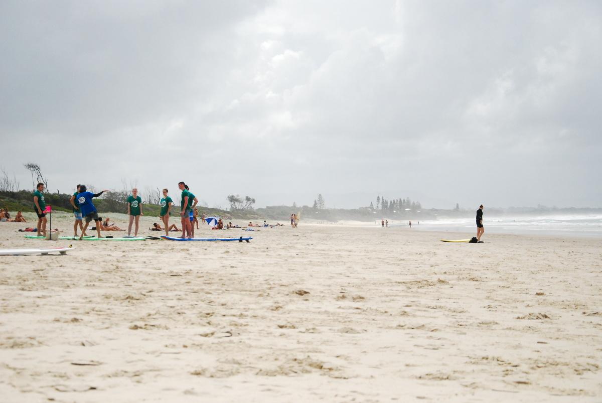 Cours de surf à Main Beach