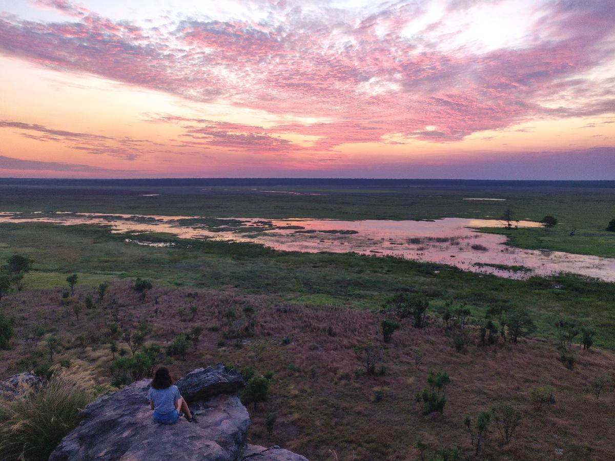 Coucher de soleil sur le Kakadu National Park