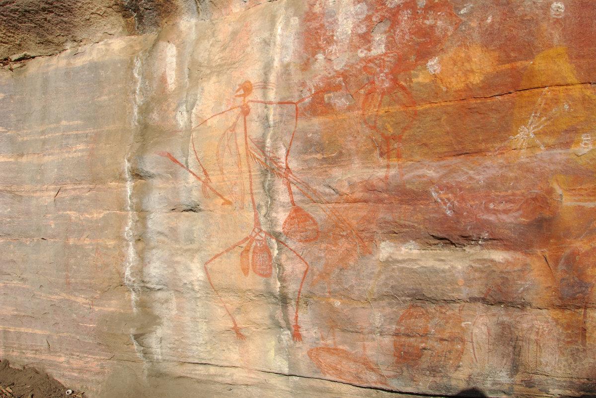 Peinture aborigène d'Ubirr dans le Kakadu National Park